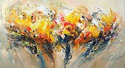 Abstrakte Malerei in sonnigem Sommergelb