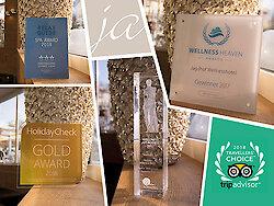 """5-Sterne Hotel gewinnt 2017 fünf Preise - Das Highlight ist der """"Holiday Check Gold Award"""""""