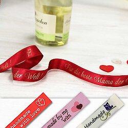 Zum Muttertag -  Geschenkbänder und Etiketten mit herzlichen Botschaften